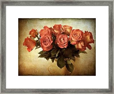 Russet Rose Framed Print by Jessica Jenney