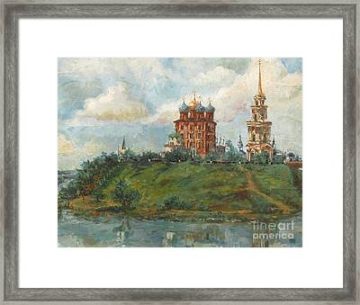 Russian Cathedral Framed Print by Margaryta Yermolayeva