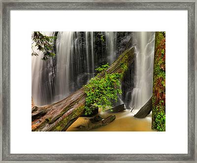 Russian Gulch Falls Framed Print by Leland D Howard
