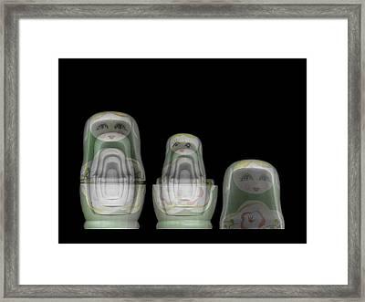 Russian Matryoshka Doll Under X-ray Framed Print by Photostock-israel