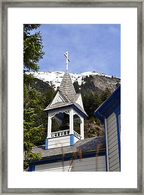 Russian Orthodox Church Bell Tower Framed Print by Cathy Mahnke