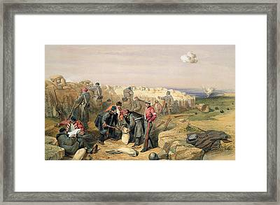 Russian Rifle Pit , Plate From The Seat Framed Print by William 'Crimea' Simpson
