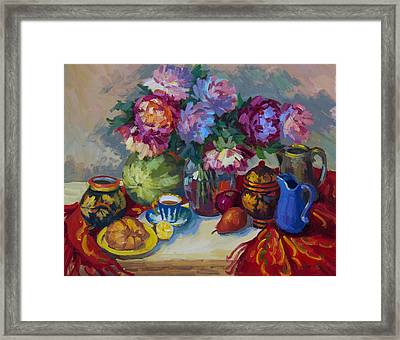 Russian Still Life Framed Print by Diane McClary
