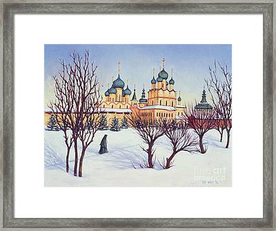 Russian Winter Framed Print by Tilly Willis