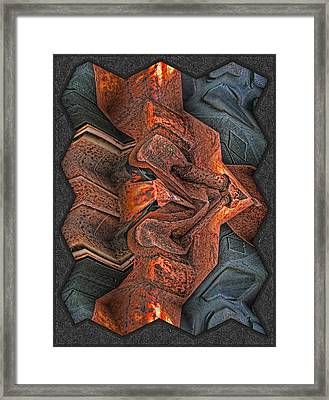 Rust Flow Framed Print by Wendy J St Christopher