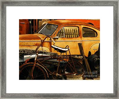 Rust Race Framed Print by Joe Jake Pratt