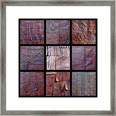 Rusted Tin Framed Print by Art Block Collections
