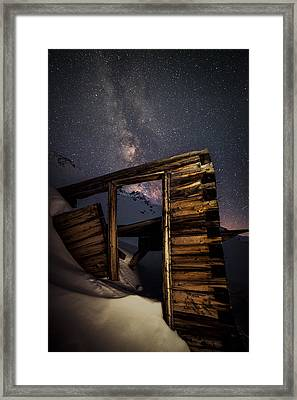 Rustic Cabin Open House In Mayflower Gulch Framed Print by Mike Berenson