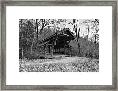 Rustic Covered Bridge Framed Print by Susan Leggett
