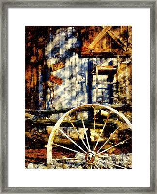 Rustic Decor Framed Print by Janine Riley