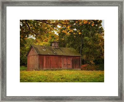 Rustic Kent Hollow Barn Framed Print by John Vose