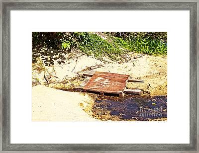 Rustic Little Bridge Framed Print by Wendy Townrow
