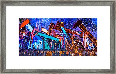 Rustic Pump Jacks 2 Framed Print by Brian Stevens