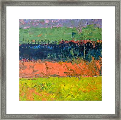 Rustic Roadside Series - Pond Framed Print by Michelle Calkins