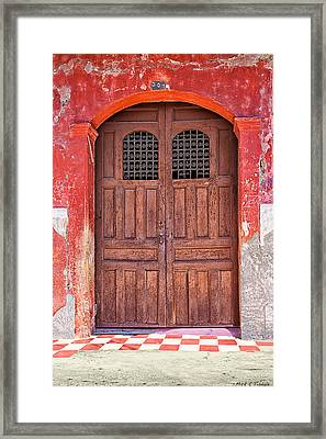 Rustic Spanish Colonial Door - Granada Framed Print by Mark E Tisdale