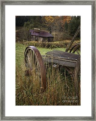 Rustic Vermont Charm Framed Print by Thomas Schoeller