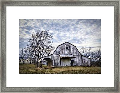 Rustic White Barn Framed Print by Cricket Hackmann