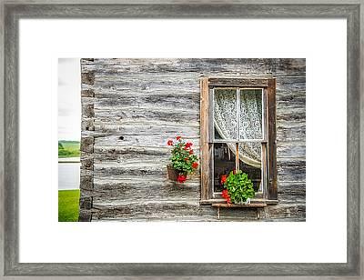 Rustic Window Framed Print by Paul Freidlund