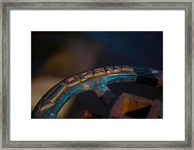 Rusty 5 Framed Print by Karol Livote