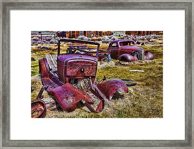 Rusty Autos Framed Print by Garry Gay