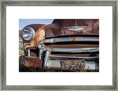Rusty But Trusty Chevy Framed Print by Amber Kresge