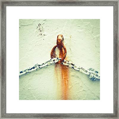 Rusty Chain Framed Print by Tom Gowanlock
