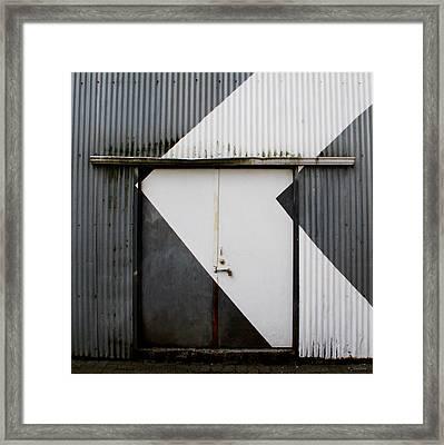 Rusty Door- Photographay Framed Print by Linda Woods