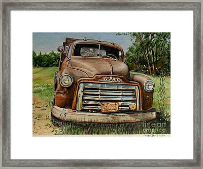 Rusty Gmc Truck Framed Print by Jackie Bryant