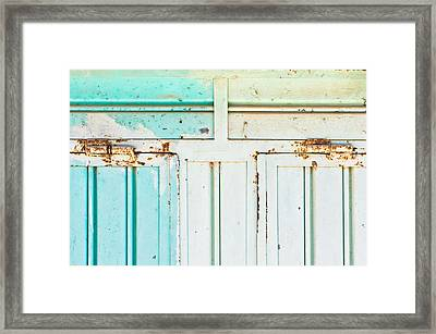 Rusty Hinges Framed Print by Tom Gowanlock