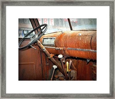 Rusty Interior Framed Print by Marty Koch