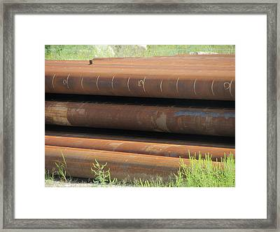 Rusty Iron Pipes Framed Print by Anita Burgermeister