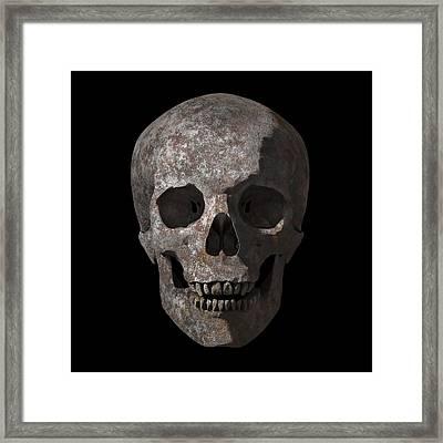Rusty Old Skull Framed Print by Vitaliy Gladkiy