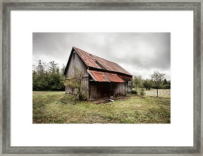Rusty Tin Roof Barn Framed Print by Gary Heller