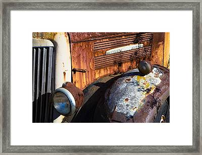 Rusty Truck Detail Framed Print by Garry Gay