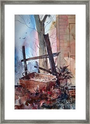Rusty Tub Framed Print by Micheal Jones