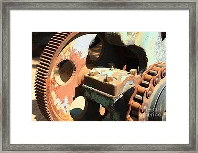 Rusty Wheel Gear Framed Print by Carol Groenen