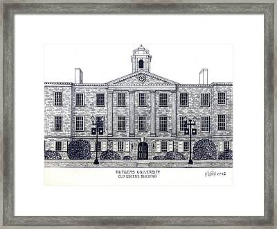 Rutgers University Framed Print by Frederic Kohli