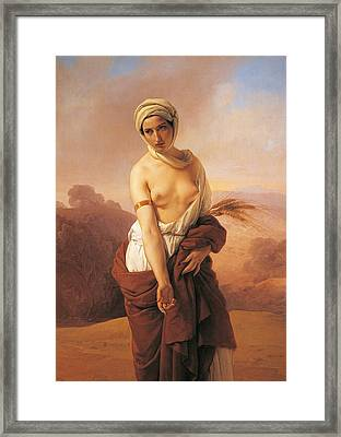 Ruth Framed Print by Francesco Hayez