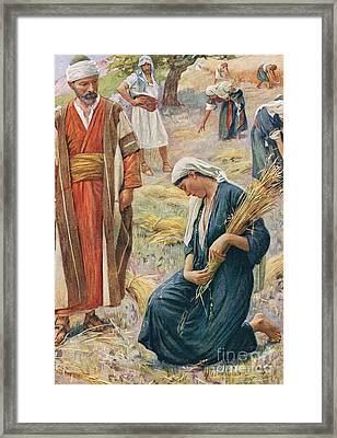 Ruth Framed Print by Harold Copping