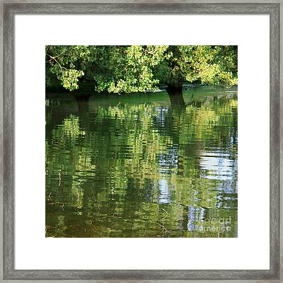 Rutland Water Reflection Framed Print by Karin Ubeleis-Jones