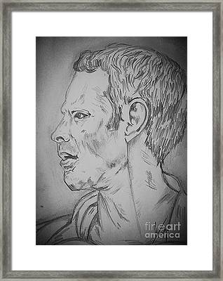 Ryan Giggs Art Framed Print by Collin A Clarke