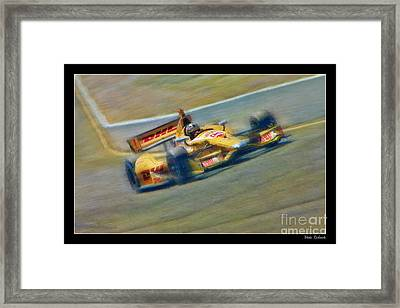 Ryan Hunter-reay Framed Print by Blake Richards