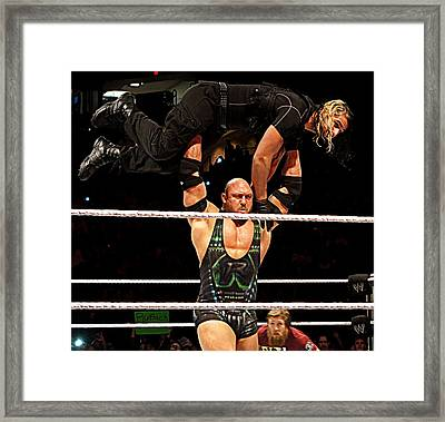 Ryback And Shield Framed Print by Paul  Wilford