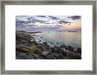 Rye Cliffs Framed Print by Eric Gendron