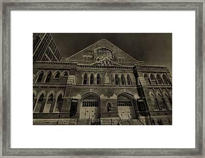 Ryman Auditorium Framed Print by Dan Sproul