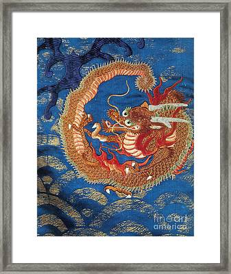 Ryujin, Japanese Dragon God Of The Sea Framed Print by Photo Researchers