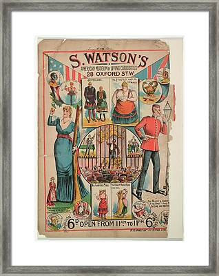 S. Watson's American Museum Of Living Cur Framed Print by British Library