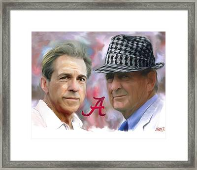 Saban And Bear Framed Print by Mark Spears