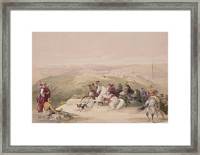 Sabaste  Ancient Samaria Framed Print by David Roberts
