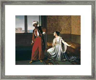 Sabatelli, Gaetano 1842-1893. Otello Framed Print by Everett